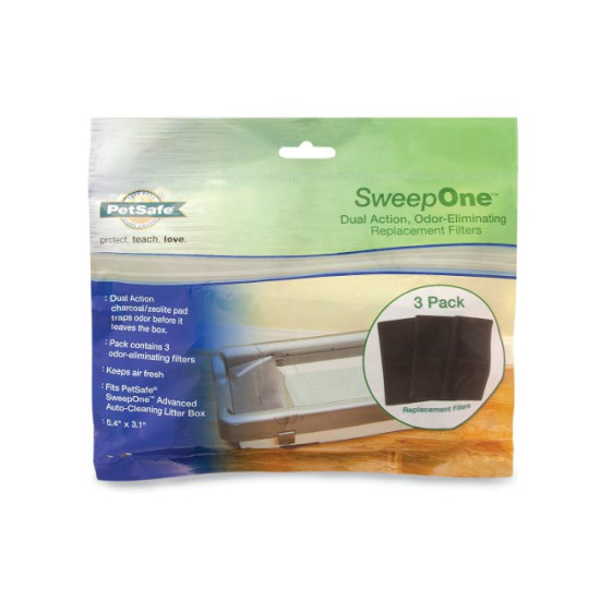 SweepOne™ Litter Box Odor-Eliminating Filters (3-Pack)