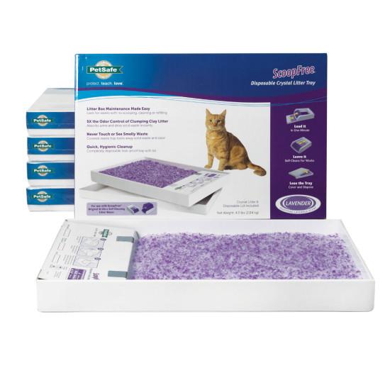 ScoopFree® Premium Lavender Crystals Litter Tray (6-Pack)