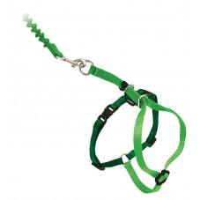 Come With Me Kitty™ Cat Harness & Bungee Leash - Medium, Electric Lime