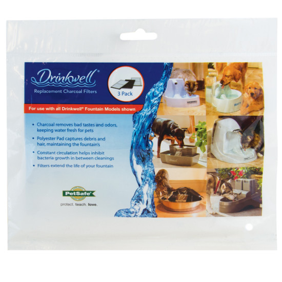 Drinkwell® Fountain Charcoal Filters (3-Pack)