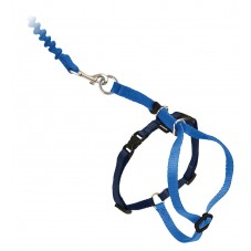Come With Me Kitty™ Cat Harness & Bungee Leash - Medium, Royal Blue