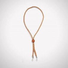 Braided Leather Lanyard