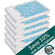 ScoopFree® Disposable Crystal Litter Tray, Blue, 6-Pack