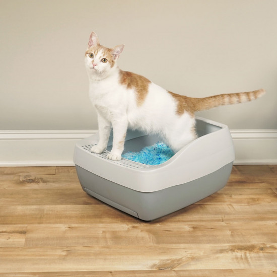 Deluxe Crystal Litter Box System