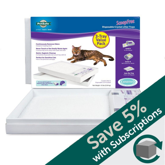 ScoopFree® Litter Box Tray Refill with Sensitive Crystals, 3-Pack