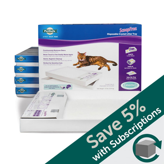 ScoopFree® Litter Box Tray Refill with Sensitive Crystals, 6-Pack