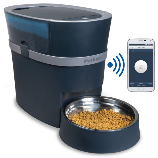 smart dispenser by wifi cats dogs controlled and automatic for feeder petwant feeders phones dp pet food
